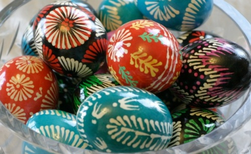 Lemko Easter eggs. We recently discovered that my husband is Lemko in ancestry.